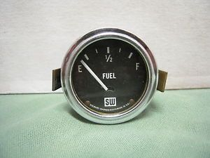 Vintage Stewart Warner Fuel Gas Gauge 1932 Ford Flathead Hot Rod Dash Panel Scta