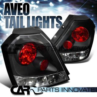 Chevy 04 08 Aveo AVEO5 HB Tail Lights Brake Stop Rear Lamp altezza Black