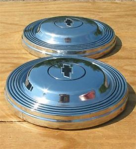 1965 Chevy Biscayne Hubcaps Chevrolet Bel Air Hub Cap Set of 2 1966