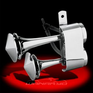 Chrome Air Horn System for Harley Davidson Touring FLH Flt Softail Dyna