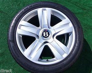 4 Perfect Genuine Factory Bentley Continental Wheels Tires Flying Spur GTC