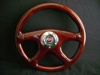 "New 14"" Dark Walnut Wood Grain Steering Wheel"