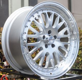 "18"" Staggered CCW Style 5x114 3 Silver Wheels Fit Lexus IS250 IS300 GS300 SC430"