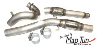 Maptun Performance 3 inch Stainless Steel Down Pipe Race Cat Saab 9 3 98 02
