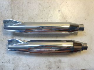 Harley Davidson FXD1340 FXD 1340 Dyna Fishtail Exhaust Pipes Mufflers 65855 95