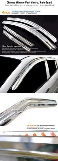Chrome Window Vent Visors Rain Guards for 2012 Chevrolet Sonic Aveo 5 Door