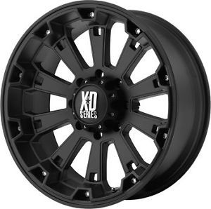 "17"" Black Rims Tires 8x170 Ford F250 Excursion Falken at Lt 265 70 17 10 Ply"