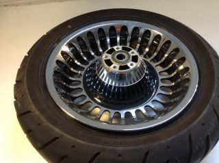Harley Davidson Softail Dyna Fatboy Rear Wheel Rim Tire Hub