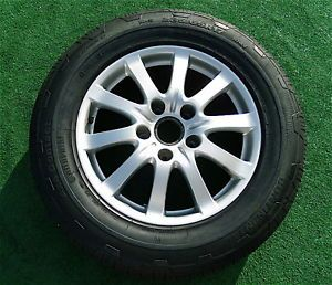 4 Genuine Original Factory Porsche Cayenne 17 inch Wheels Continental Tires
