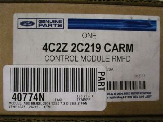 Ford ABS Control Module Dual Rear Wheel E350 7 3L 4C2Z2C219CARM New
