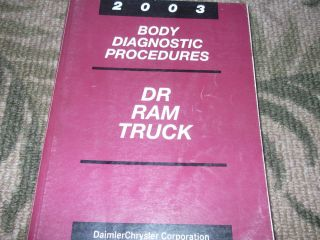 2003 Dodge RAM Truck 1500 2500 3500 Body Diagnostic Service Shop Manual Cummins
