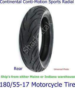 180 55 17 Rear Continental Conti Motion Motorcycle Tire