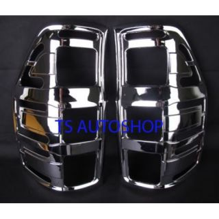 Chrome Rear Back Tail Light Lamp Trim Cover for New Ford Ranger XLT 2011