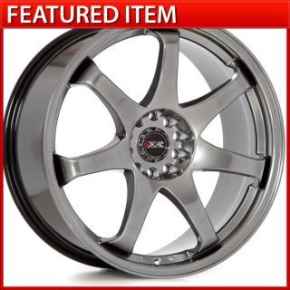 XXR 522 19 19x8 5 5x114 3 5x120 15 Chromium Black Wheels Rims 350Z 370Z G35 G37
