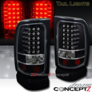 1994 2001 Dodge RAM 1500 2500 3500 LED Tail Lights Black Housing L E D