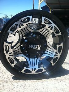 "17"" Black Rims Tires 8x170 Ford Lt 315 70 17 Falken Wild Peak at Moto Skull"
