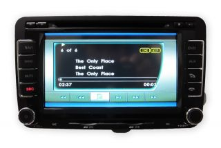 "2007 2011 VW Jetta 6"" S60 in Dash 2 DIN Touch Screen GPS Navigation Radio Stereo"