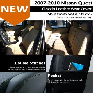 Clazzio Custom Perfect Fit Leather Seat Cover Gray 08 12 Nissan Quest 3 5 3 5S