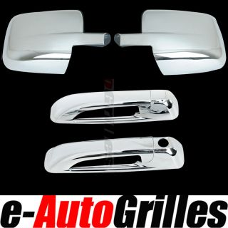 09 12 Dodge RAM 1500 2500 3500 Chrome Mirror w O Turn Signal 2 Door Handle Cover