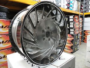 "Brand New 22"" asanti VF 602 3 Piece Brushed Staggered Wheels Porsche Panamera"