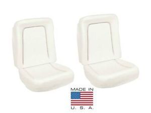 67 Camaro Bucket Seat Foam Deluxe Interior Full Set 2 Seats Made in The USA