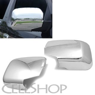 2006 2013 Honda Ridgeline Triple Chrome Plated Mirror Rear View Cover Pair Trim