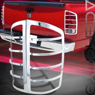 2002 2006 Dodge RAM 1500 2500 3500 Cab Pickup Chrome Tail Lights Cover Bezel New