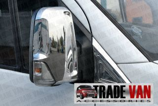 Mercedes Sprinter VW Crafter Van Chrome Mirror Covers Stainless Steel 2006 Up