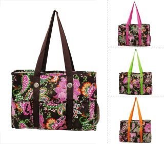 All in One Floral Print Travel Caddy Organizer Tote Bag