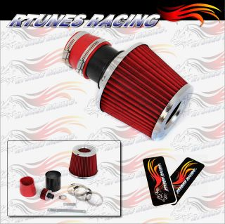 Rtunes Matte Black Red 99 05 Jetta Golf Bettle TT Short RAM Air Intake Induction