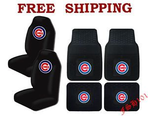 MLB Chicago Cubs Car Truck All Weather Rubber Floor Mats Seat Covers