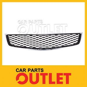 2010 2013 Chevy Equinox Front Bumper Lower Grille GM1200621 Chrome Grill Trim Lt