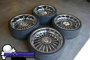 "22"" asanti AF 122 All Chrome Staggered Wheels Rims Tires BMW 7 Series 745 750"