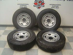 11 12 Ford F 250 Super Duty Set of 4 Steel Wheels Studded Snow Tires 17""
