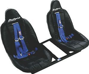 Bedryder Truck Bed Seats Center Console Cooler Black Seats Blue Harness