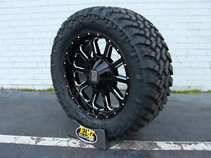 "20"" XD Bomb XD806 Black 295 55R20 295 55 20 Nitto Trail Grappler MT 33"" Tires"
