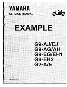 Yamaha Golf Utility Cart Manuals Owners Service Repair Parts Lists IPL