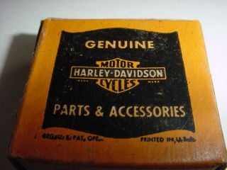 RARE 1942 Vintage WWII Government Only Harley Davidson Motorcycle Old Parts Box