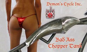Custom Chopper Gas Tank Radical Fuel Tanks Fits Harley Davidson Motorcycle Frame