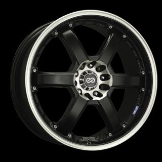 16 Enkei PKR Black Rims Wheels 16x7 42 4x100 Mini Cooper Fit Civic Integra XB