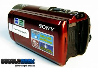 New Open Box Sony DCR SX45 Handycam Camcorder 70x Zoom 3inch LCD Red