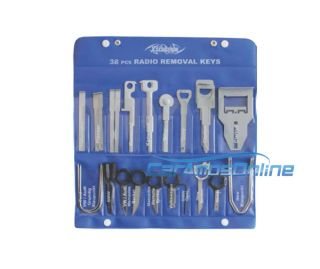 ★ New Car Stereo Factory Aftermarket Radio Removal Key 38 Piece Tool Set ★