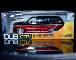 Chevrolet Suburban Dub City Diecast 1 18 Scale Red Black