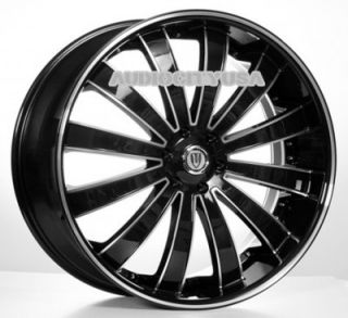 "22"" VT 225BM Wheels and Tires Rims for Chevy Tahoe Escalade Yukon RAM Ford"