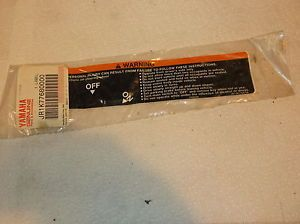 Yamaha Golf Cart Parts Warning Sticker JRIK77680000 for Golfcart