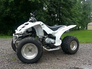 2006 Yamaha Raptor 80 Aftermarket Exhaust Wheels Tires Nerf Handle Bars