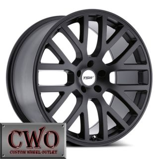 18 Black TSW Donington Wheels Rims 5x112 5 Lug Jetta Rabbit VW Audi A4 Mercedes