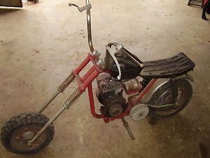 Vintage Rupp Mini Bike Frame Forks and Wheels and Two Motors