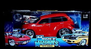 2000 Chrysler PT Cruiser Muscle Machines Diecast 1 18 Scale Red