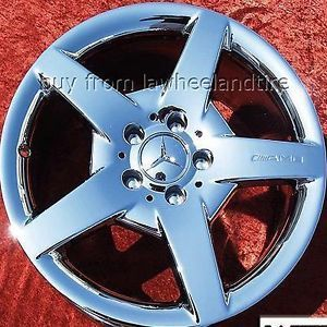 "Set of 4 New 17"" Mercedes Benz CLK500 CLK320 CLK55 AMG Chrome Wheels Rims 65346"
